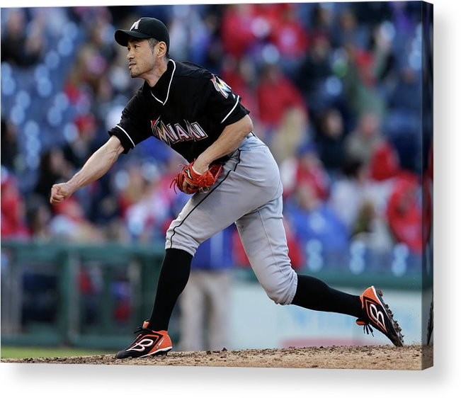 People Acrylic Print featuring the photograph Ichiro Suzuki by Adam Hunger