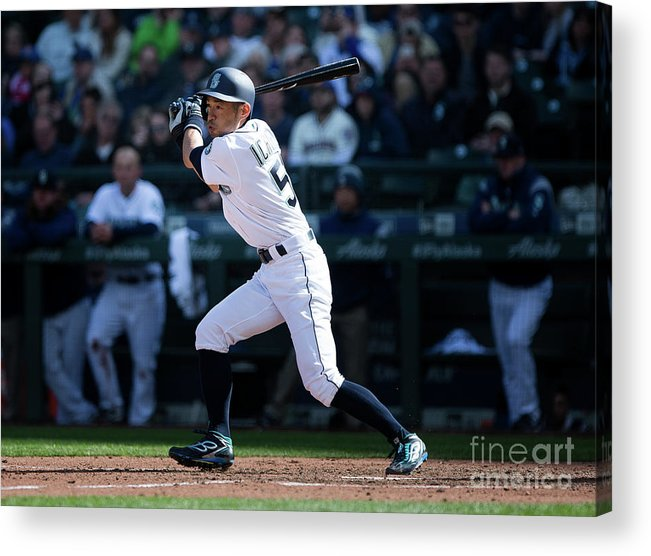 Following Acrylic Print featuring the photograph Ichiro Suzuki and Cap Anson by Lindsey Wasson