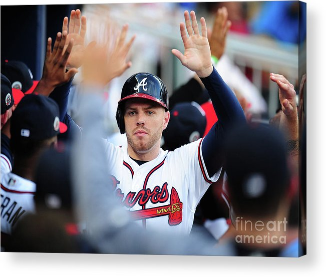 Atlanta Acrylic Print featuring the photograph Freddie Freeman by Scott Cunningham