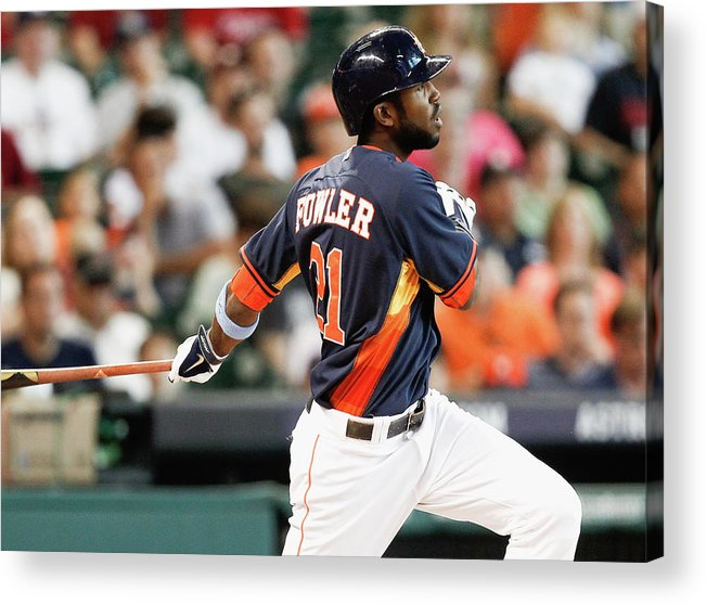 American League Baseball Acrylic Print featuring the photograph Dexter Fowler by Bob Levey