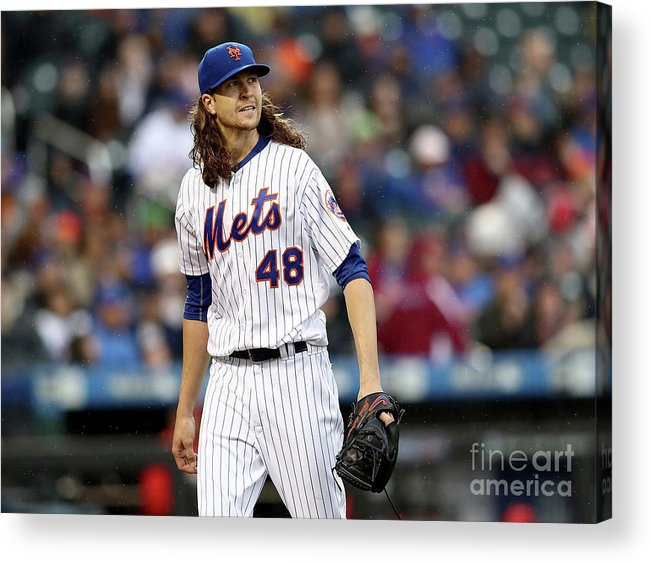 Jacob Degrom Acrylic Print featuring the photograph Jacob Degrom by Elsa
