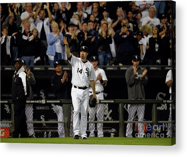 Crowd Acrylic Print featuring the photograph Paul Konerko by Brian Kersey