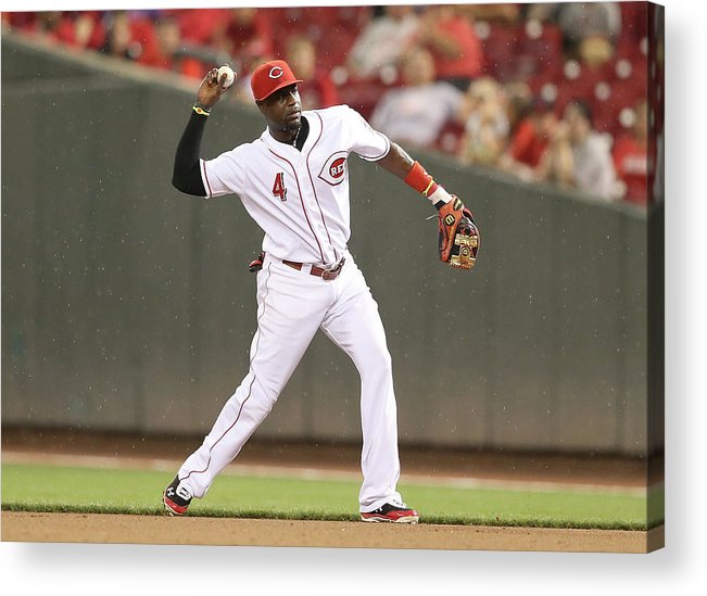 Great American Ball Park Acrylic Print featuring the photograph Red Phillips by Andy Lyons