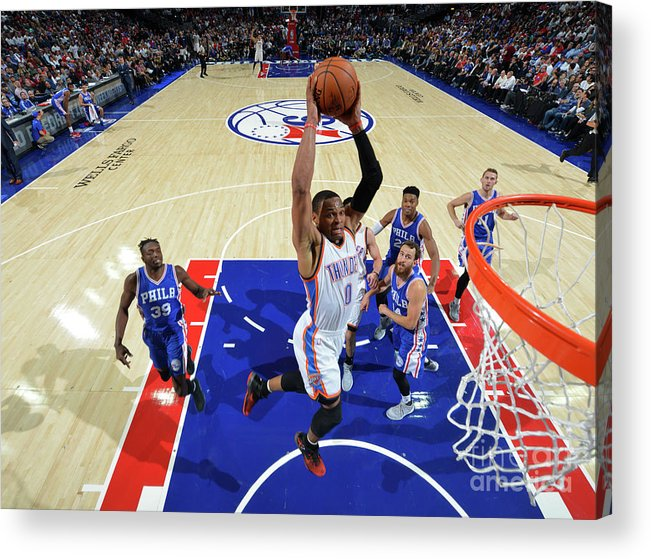 Nba Pro Basketball Acrylic Print featuring the photograph Russell Westbrook by Jesse D. Garrabrant