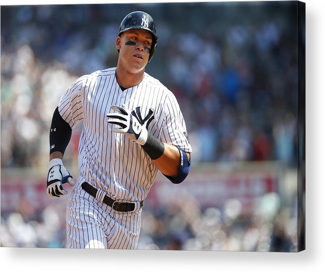Second Inning Acrylic Print featuring the photograph Aaron Judge by Rich Schultz