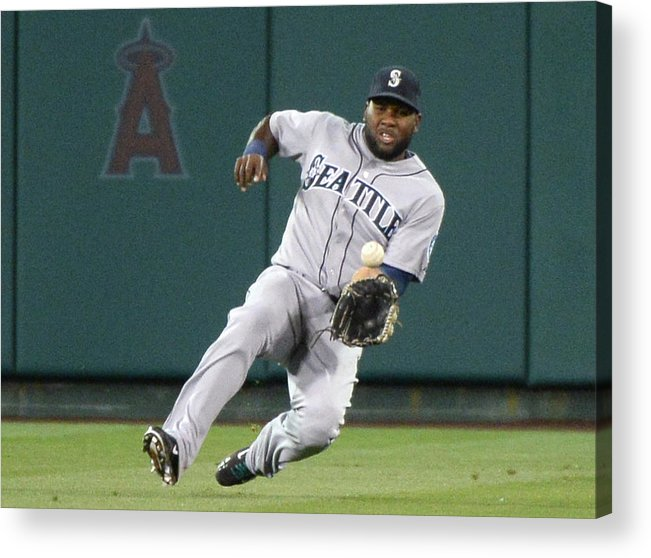 American League Baseball Acrylic Print featuring the photograph Abraham Almonte and David Freese by Harry How