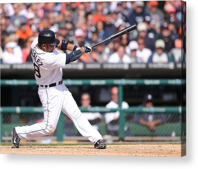 American League Baseball Acrylic Print featuring the photograph Alex Avila by Leon Halip