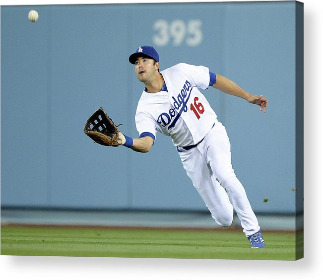 California Acrylic Print featuring the photograph Andre Ethier and Chris Owings by Harry How