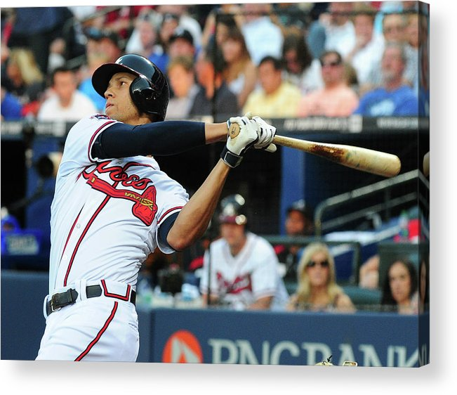 Atlanta Acrylic Print featuring the photograph Andrelton Simmons by Scott Cunningham