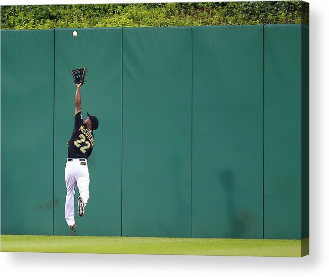 Second Inning Acrylic Print featuring the photograph Andrew Mccutchen by Jared Wickerham