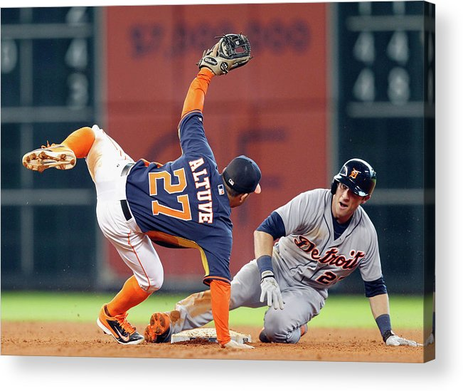 Andrew Romine Acrylic Print featuring the photograph Andrew Romine by Bob Levey