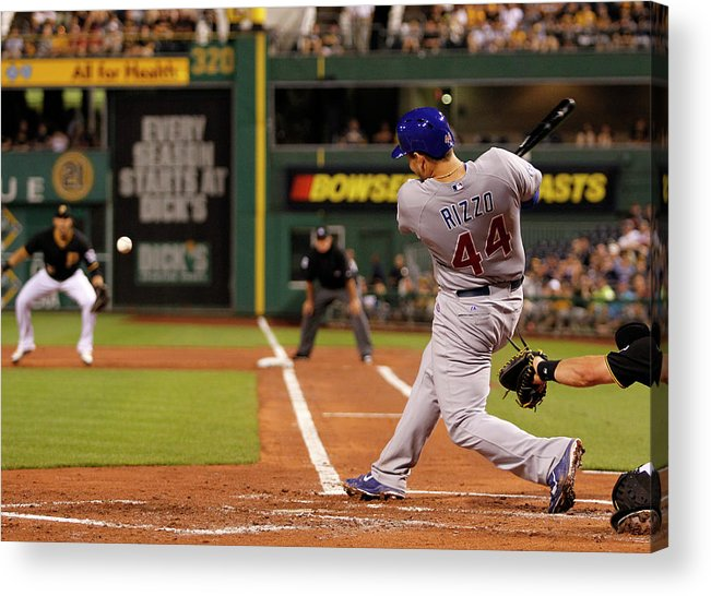People Acrylic Print featuring the photograph Anthony Rizzo by Justin K. Aller