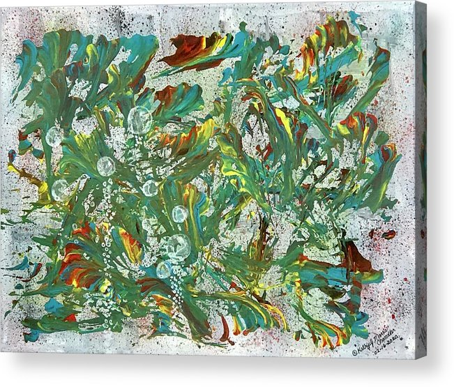 Aquatic Acrylic Print featuring the painting Aquatic Blotter Flashback by Kathy Marrs Chandler