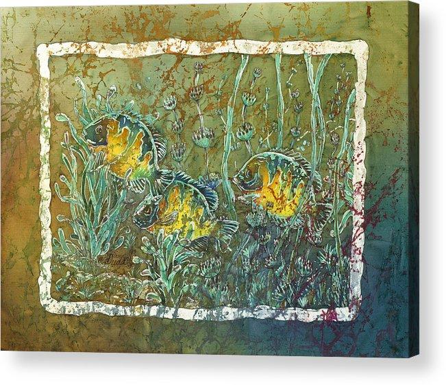 Bluegills Acrylic Print featuring the painting Bluegills Three by Sue Duda