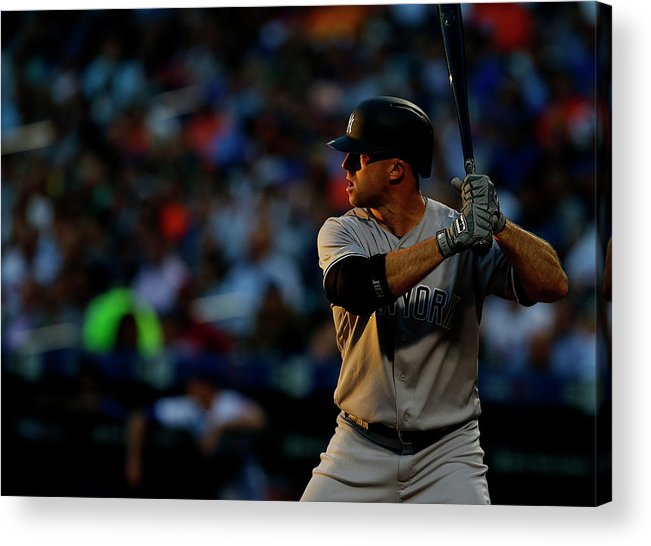 Three Quarter Length Acrylic Print featuring the photograph Brett Gardner by Rich Schultz