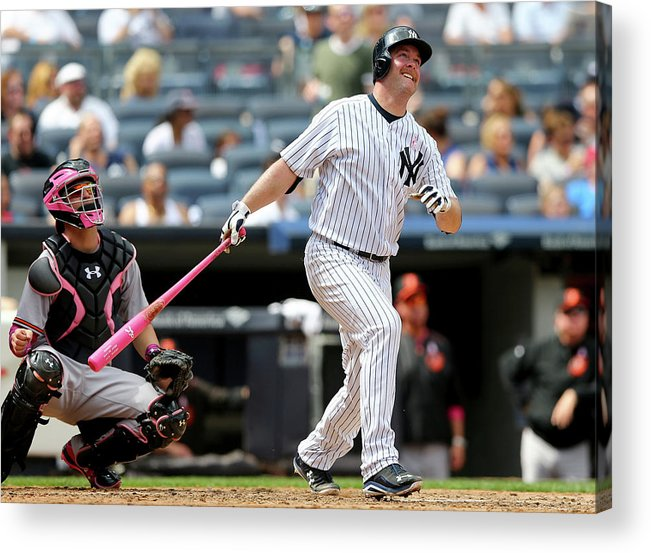 Brian Mccann Acrylic Print featuring the photograph Brian Mccann and Caleb Joseph by Elsa