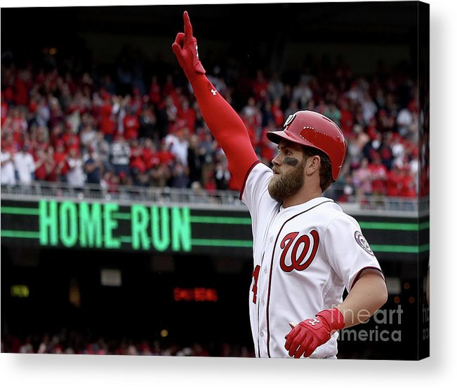 People Acrylic Print featuring the photograph Bryce Harper by Win Mcnamee