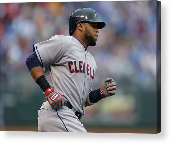Second Inning Acrylic Print featuring the photograph Carlos Santana by Ed Zurga