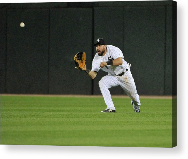American League Baseball Acrylic Print featuring the photograph Chase Headley and Adam Eaton by David Banks