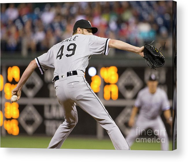Three Quarter Length Acrylic Print featuring the photograph Chris Sale by Mitchell Leff