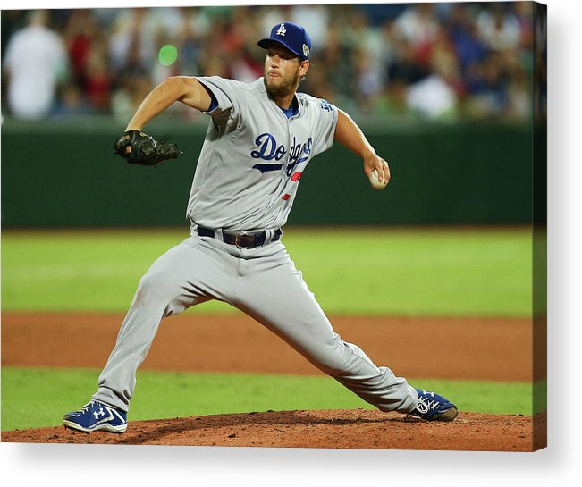People Acrylic Print featuring the photograph Clayton Kershaw by Matt King