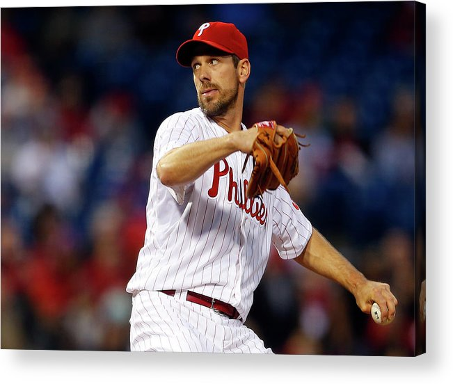 Citizens Bank Park Acrylic Print featuring the photograph Cliff Lee by Rich Schultz