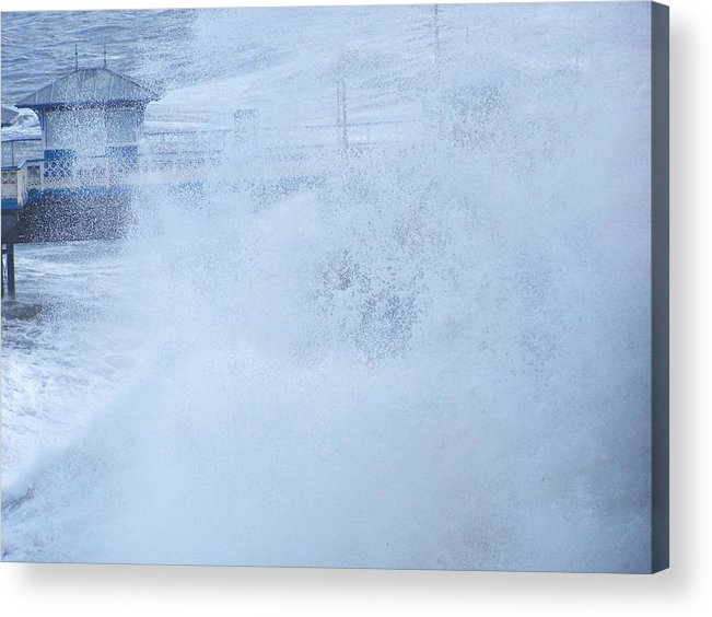 Waves Acrylic Print featuring the photograph Close one by Christopher Rowlands