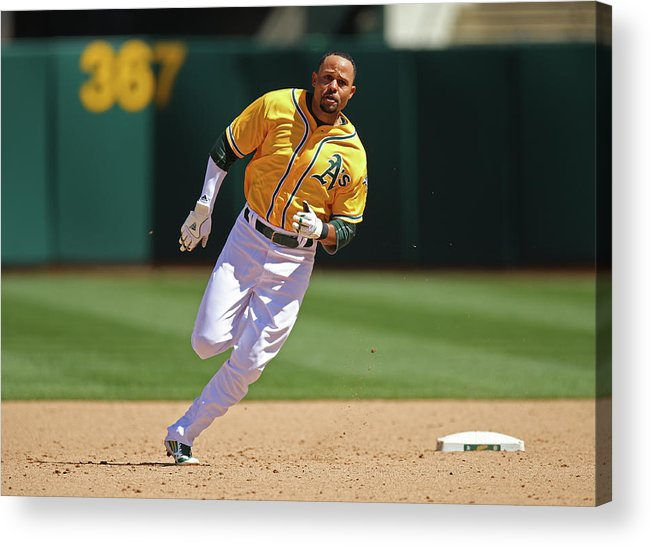 American League Baseball Acrylic Print featuring the photograph Coco Crisp by Brad Mangin