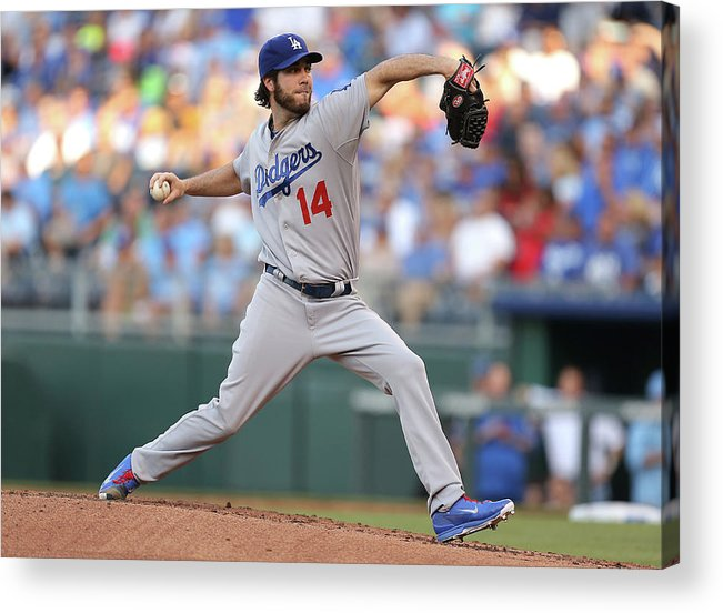 American League Baseball Acrylic Print featuring the photograph Dan Haren by Ed Zurga