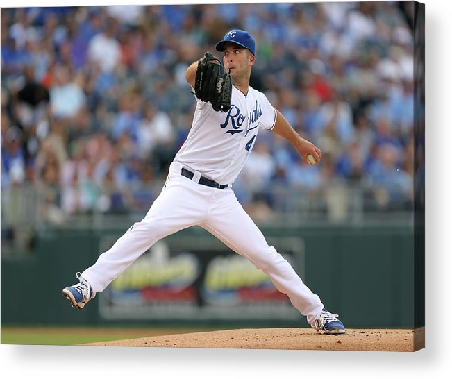 American League Baseball Acrylic Print featuring the photograph Danny Duffy by Ed Zurga