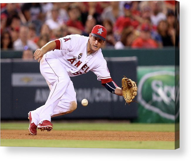American League Baseball Acrylic Print featuring the photograph David Freese by Stephen Dunn