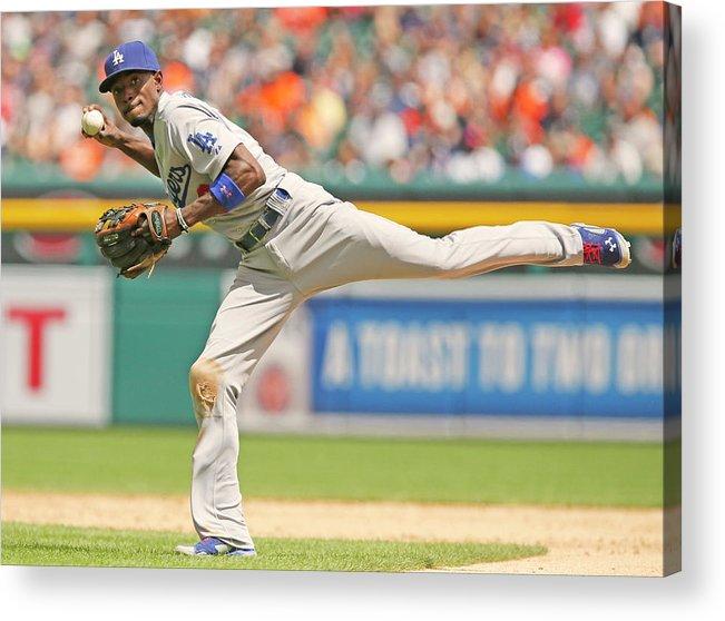 American League Baseball Acrylic Print featuring the photograph Dee Gordon by Duane Burleson