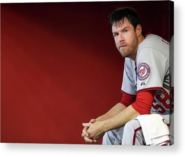 Doug Fister Acrylic Print featuring the photograph Doug Fister by Christian Petersen