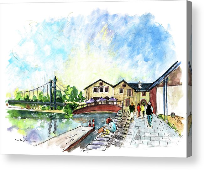 Travel Acrylic Print featuring the painting Exeter 02 by Miki De Goodaboom