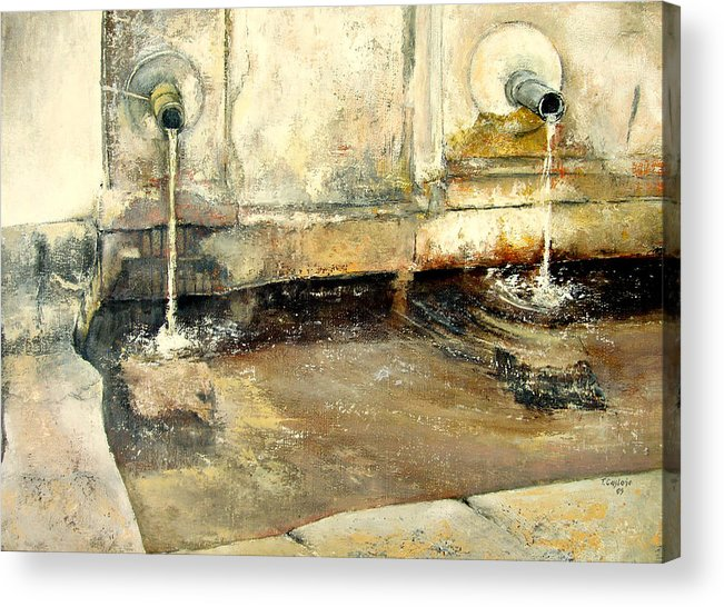 Fuente Acrylic Print featuring the painting Fuente by Tomas Castano