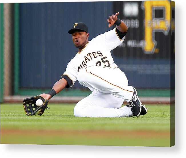 People Acrylic Print featuring the photograph Gregory Polanco by Jared Wickerham