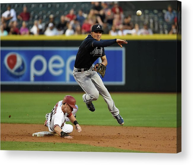 Double Play Acrylic Print featuring the photograph Jace Peterson and Chris Owings by Norm Hall