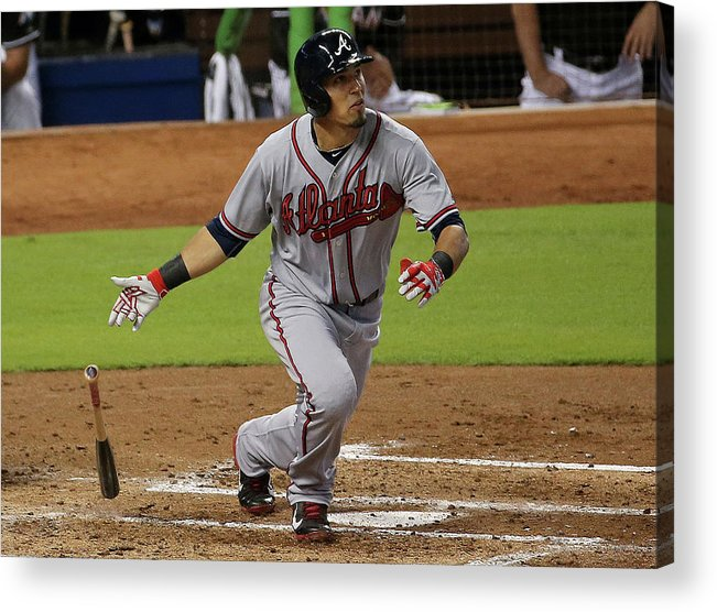 Second Inning Acrylic Print featuring the photograph Jace Peterson by Mike Ehrmann