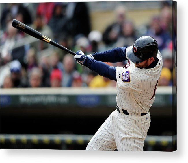 American League Baseball Acrylic Print featuring the photograph Jason Kubel by Hannah Foslien