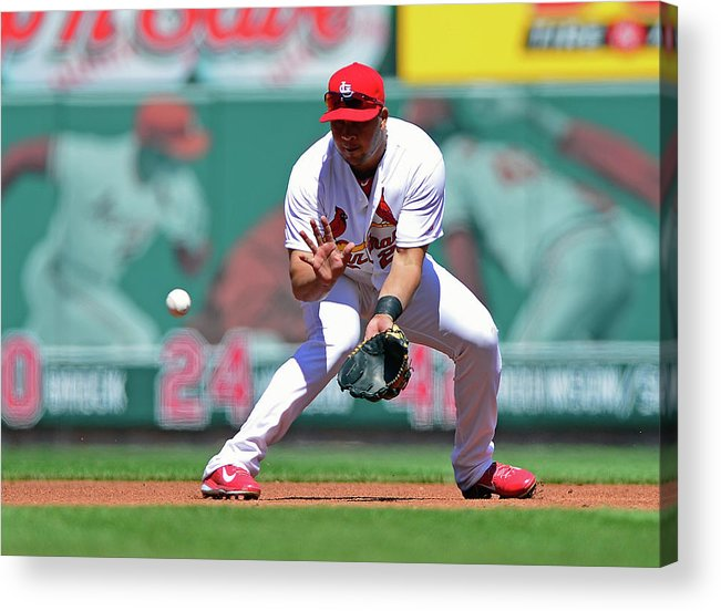 St. Louis Cardinals Acrylic Print featuring the photograph Jhonny Peralta by Jeff Curry