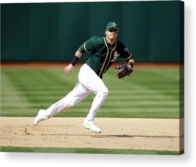 American League Baseball Acrylic Print featuring the photograph Josh Donaldson by Ezra Shaw
