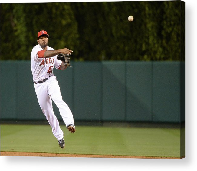 Second Inning Acrylic Print featuring the photograph Justin Smoak and Howie Kendrick by Harry How