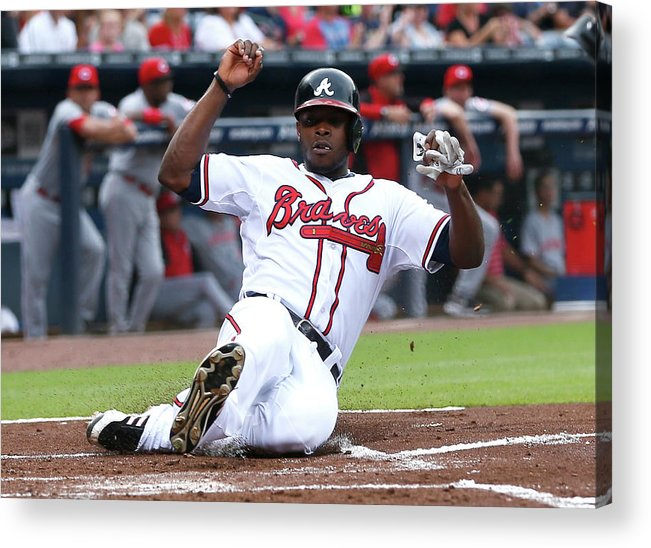 Atlanta Acrylic Print featuring the photograph Justin Upton by Kevin C. Cox