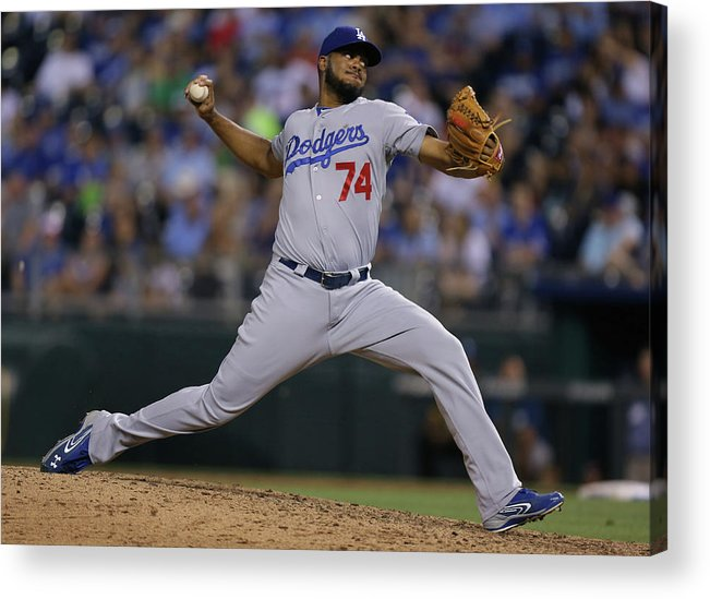 Ninth Inning Acrylic Print featuring the photograph Kenley Jansen by Ed Zurga