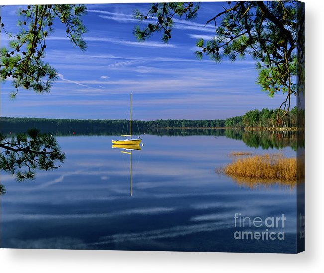 Lake Massabesic Acrylic Print featuring the photograph Lake Massabesic - Auburn New Hampshire USA by Erin Paul Donovan