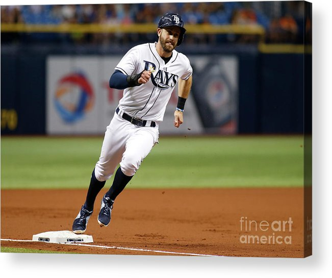 People Acrylic Print featuring the photograph Logan Morrison and Evan Longoria by Brian Blanco
