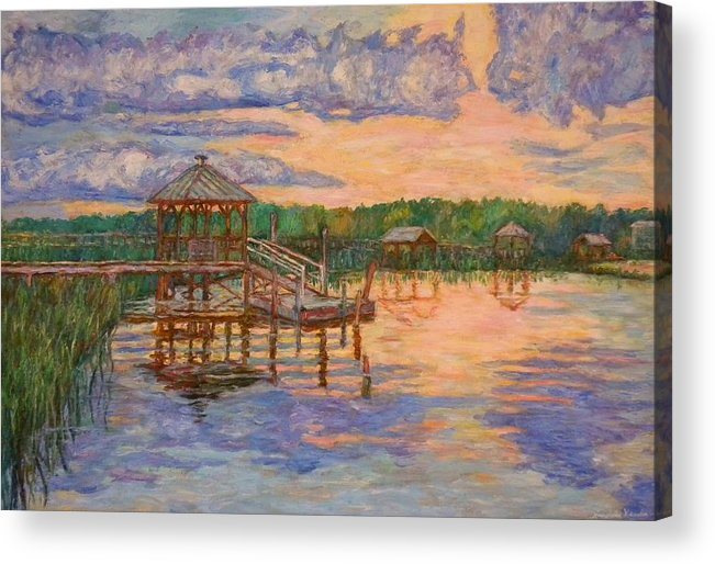 Landscape Acrylic Print featuring the painting Marsh View at Pawleys Island by Kendall Kessler
