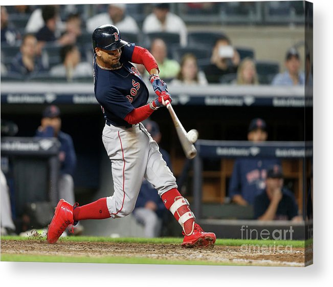 People Acrylic Print featuring the photograph Mookie Betts by Jim Mcisaac