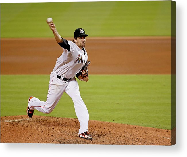American League Baseball Acrylic Print featuring the photograph Nathan Eovaldi by Rob Foldy