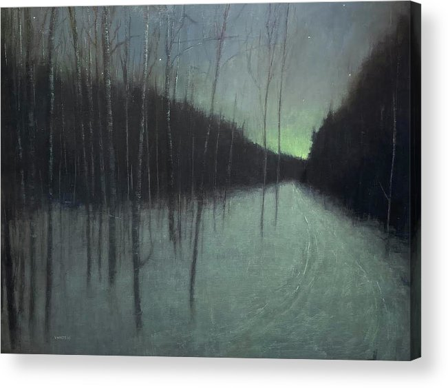Acrylic Print featuring the painting Night Luster by Mary Jo Van Dell